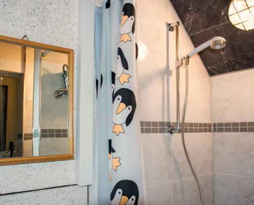 Dusche für Studio 1 und 2 Singlestudio 2 – Ferienhof Kaiser Herrieden